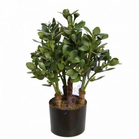 Planta crasa artificial con maceta 050