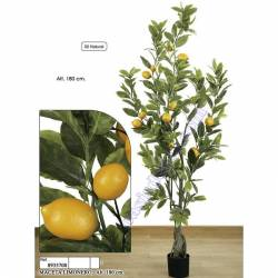 Limonero artificial con frutas de plastico