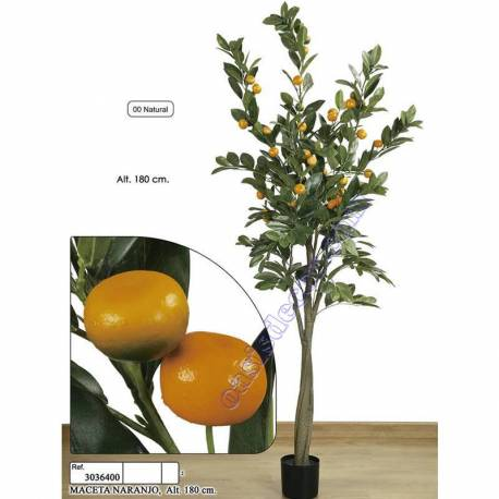 Naranjo artificial con frutas de plastico