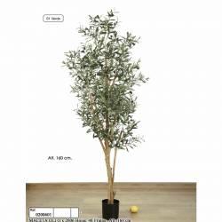 Olivera artificial amb olives de plastic 160