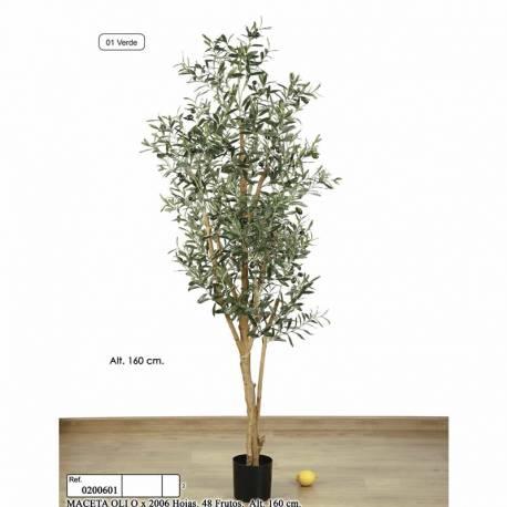 Olivo artificial con aceitunas de plastico 160