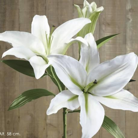 Lilium artificial dos flores