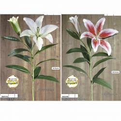 Lilium artificial una flor y capullo
