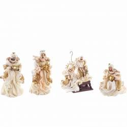 Nacimiento de Navidad con Reyes Magos champagne