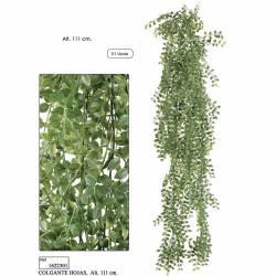 Planta artificial colgante hojas de plastico