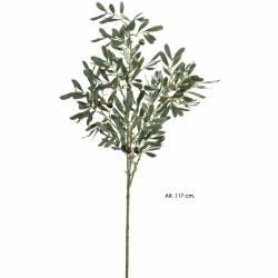 Rama olivo artificial grande con aceitunas de plastico