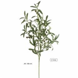 Rama olivera artificial amb olives de plastic 100