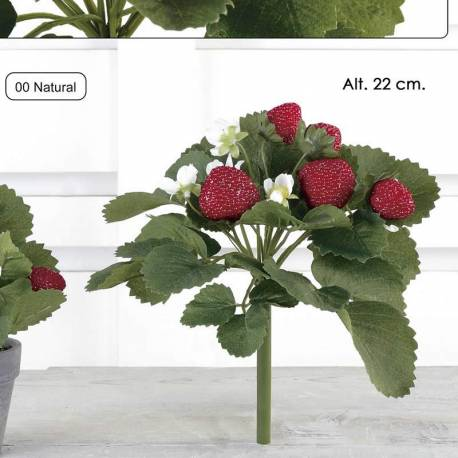 Mata fresas artificiales de plastico