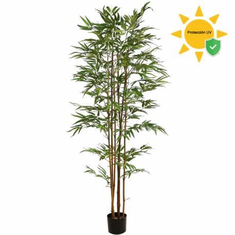 Bambu artificial cañas naturales con proteccion UV 180