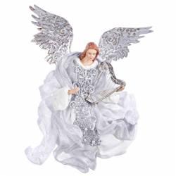 Angel Navidad fastuoso plata