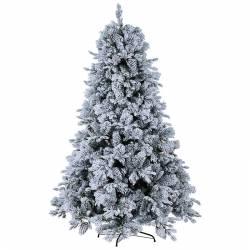 Abeto artificial de navidad nevado grande 3 metros