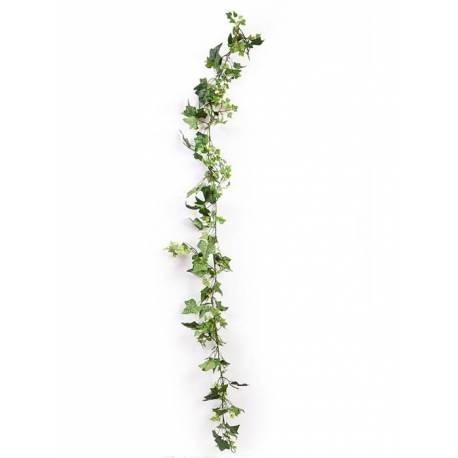 Guirnalda hiedra artificial verde