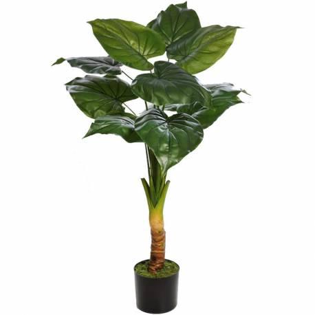 Planta artificial taro con maceta