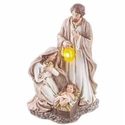 Nacimiento de Navidad con linterna led