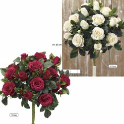Ramo redondo flores artificiales con rosas