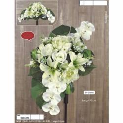 Ram horitzontal flors artificials cementeri phalaenopsis i lilium