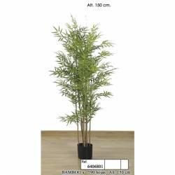 Bambu artificial cañas naturales 150