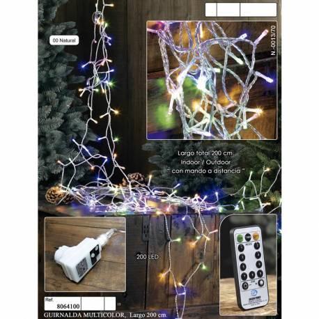 Luces led navidad multicolor con mando