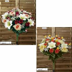 Ramo redondo flores artificiales ranunculus lily