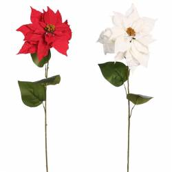 Flor de pasqua artificial poinsettia de tela