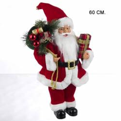 Muñeco Papa Noel tradicional mediano