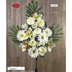Ramo flores artificiales cementerio orquideas y gerberas