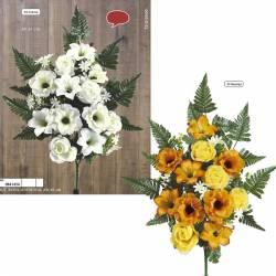 Ram flors artificials cementeri roses i anemones