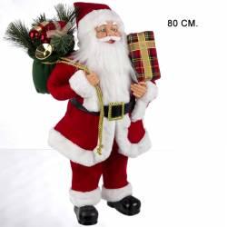 Muñeco Papa Noel tradicional grande