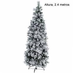 Arbol artificial de navidad nevado estrecho