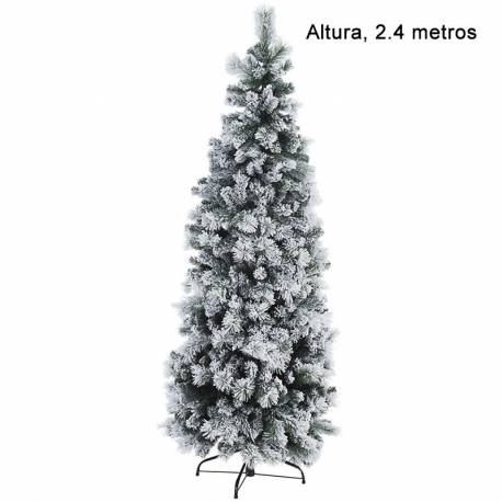 Arbre artificial de nadal nevat estret