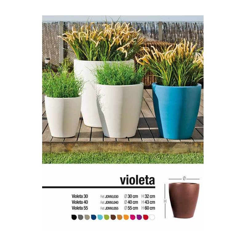 Maceta grande exterior Violeta Oasis Decor