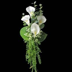 Ramo flores artificiales calas blancas