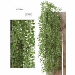 Planta colgante artificial hojas de plastico 091