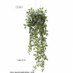 Planta que penja artificial mini fulles amb test