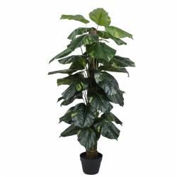 Planta artificial pothos en tutor con maceta