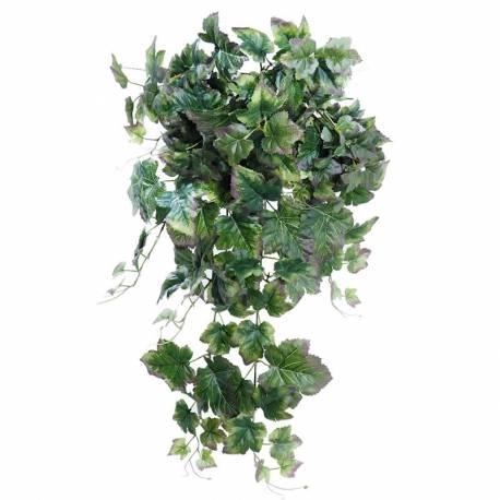 Planta colgante parra artificial morada-verde