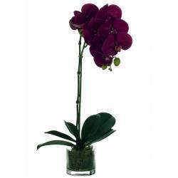 Orquídia artificial en pot de vidre