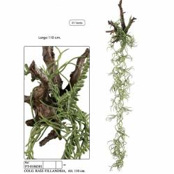 Planta artificial colgante raiz tillandsia 110