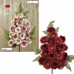 Ram flors artificials cementeri roses i gerberes