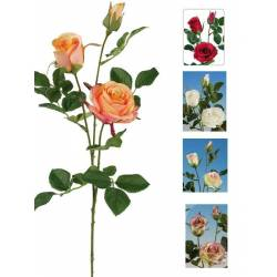 Rama flores 3 rosas artificiales