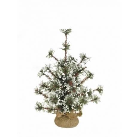 Pino artificial nevado pequeño de Navidad 046