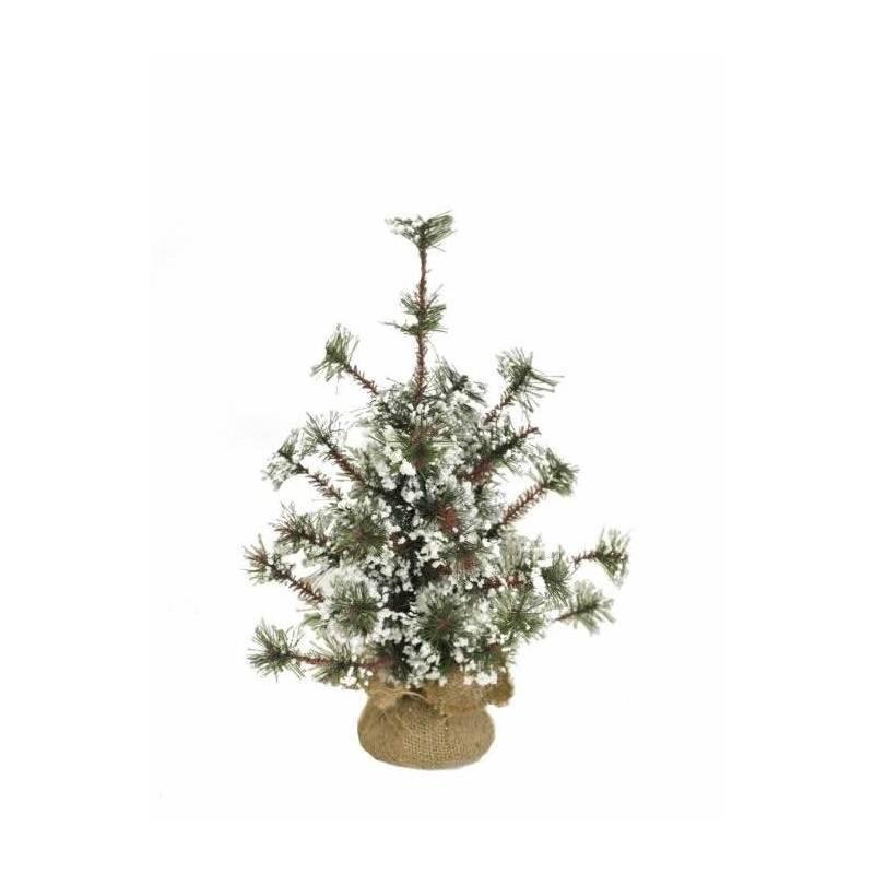 pino artificial nevado pequeo de navidad