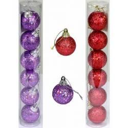 Blister 6 bolas de navidad pequeñas