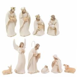 Betlem de nadal de resina blanc