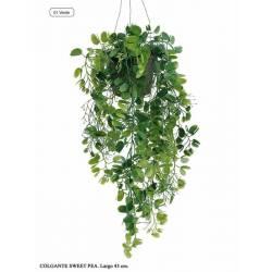Planta artificial pequeña de plastico sweet pea con maceta