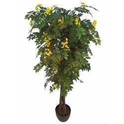Acacia artificial de flor amarilla