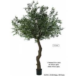Olivo artificial grande con aceitunas