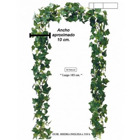Garlanda hedra artificial verd 180