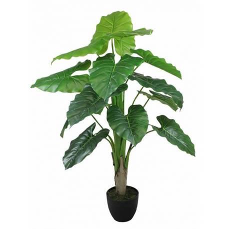 Planta caladium artificial con maceta