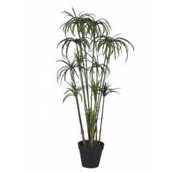 Planta cyperus artificial con maceta 090